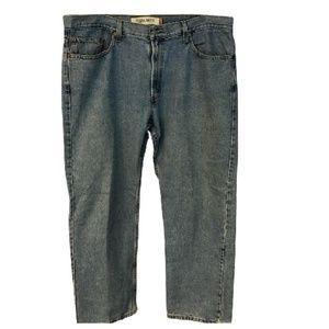 Levi's Blue 505 Light Wash Fit Cotton Jeans